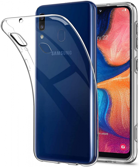 Husa Samsung Galaxy A20E Silicon Matte TPU Extra Slim – transparent [2]