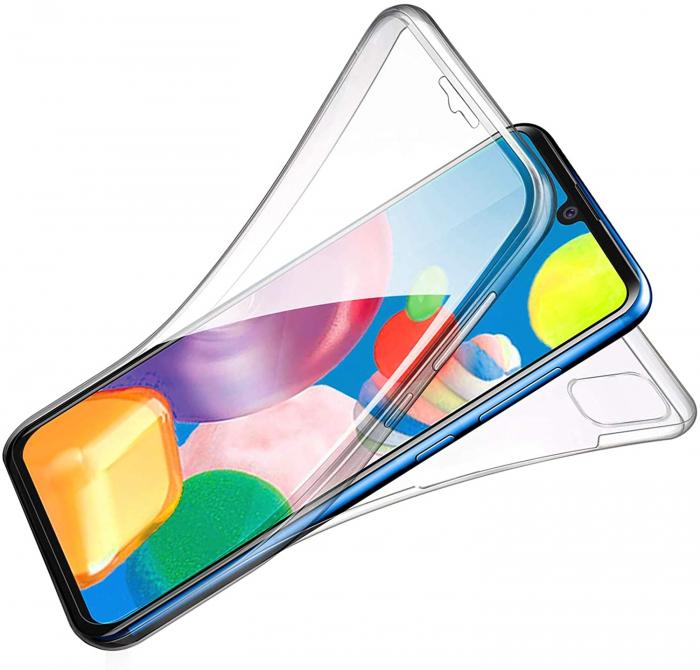 Husa Samsung Galaxy A41 Silicon TPU 360 grade (fata - spate) - transparent [2]