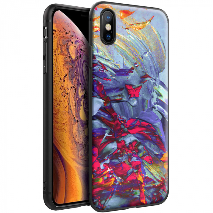 Husa iPhone X/XS - Silicon Matte - Abstract 1 [0]