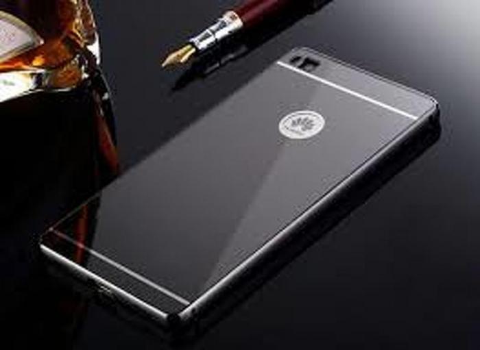 Bumper Metalic pentru Huawei Ascend P8 -  negru 0