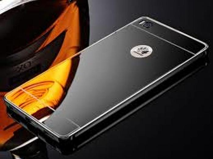 Bumper Metalic pentru Huawei Ascend P8 -  negru 2