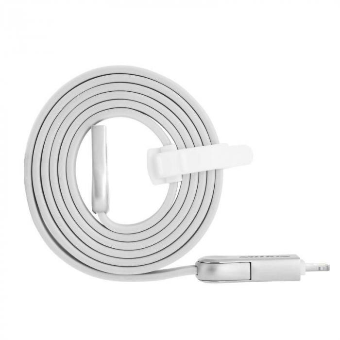 Cablu de date 2 in 1 Lightning si Micro USB - Nillkin Plus III 2