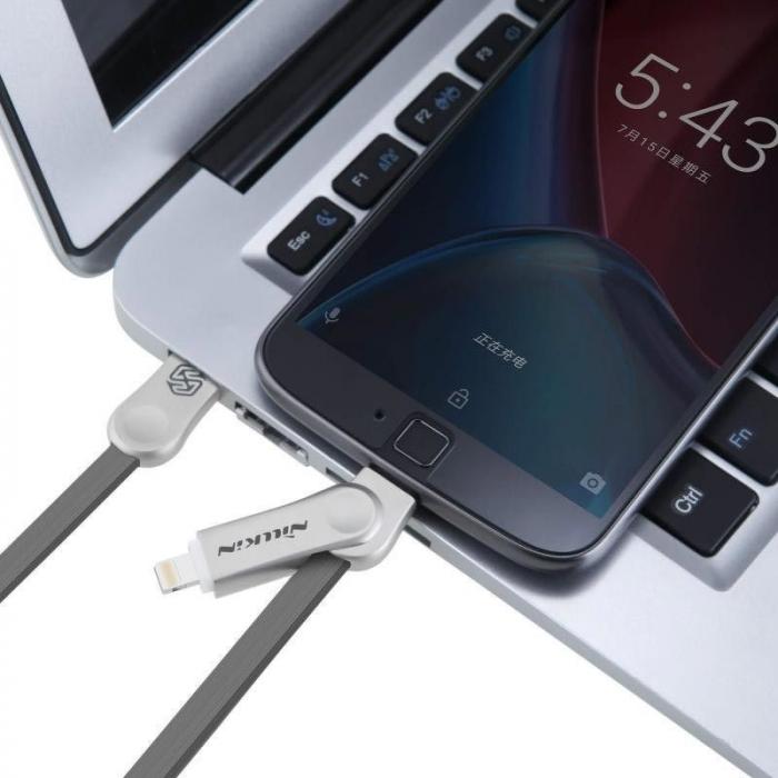 Cablu de date 2 in 1 Lightning si Micro USB - Nillkin Plus III 4