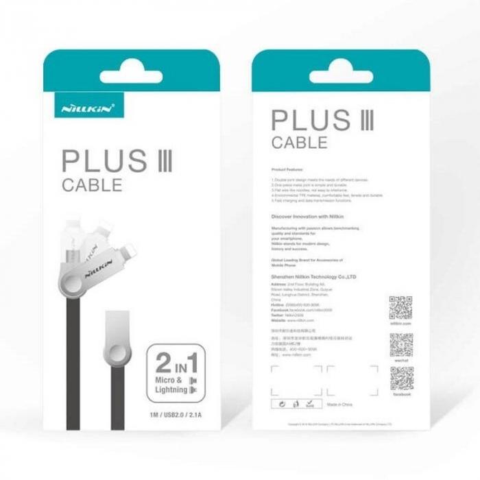 Cablu de date 2 in 1 Lightning si Micro USB - Nillkin Plus III 5
