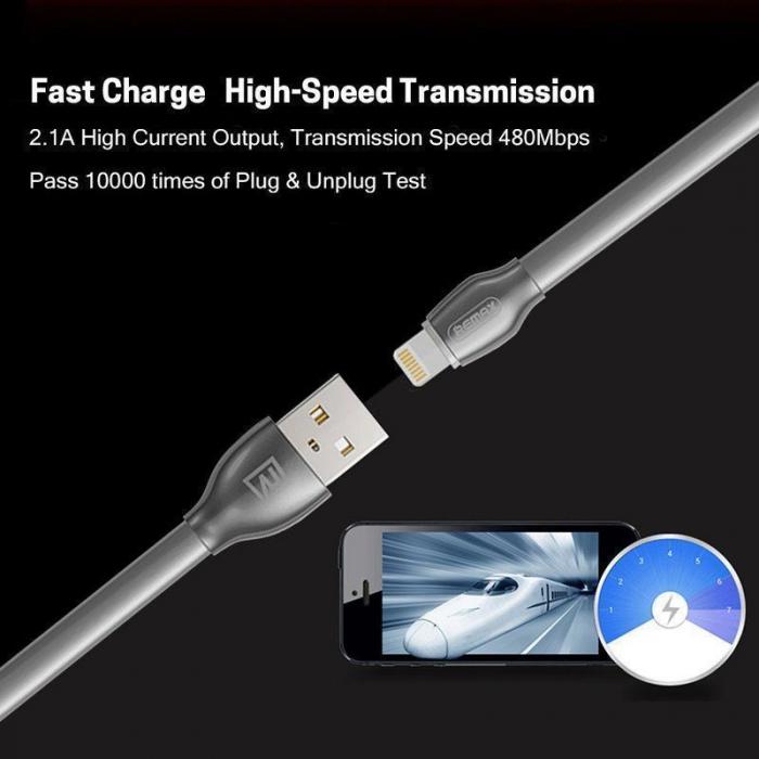 Cablu de date Lightning Remax Laser Iluminat 4