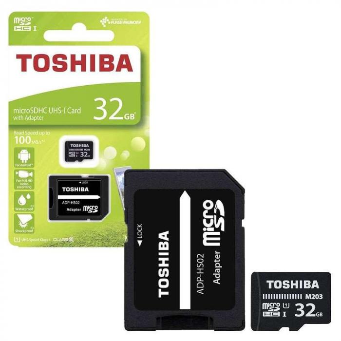 Card de memorie  Toshiba Micro SD-UHS 32 GB Class 10 1