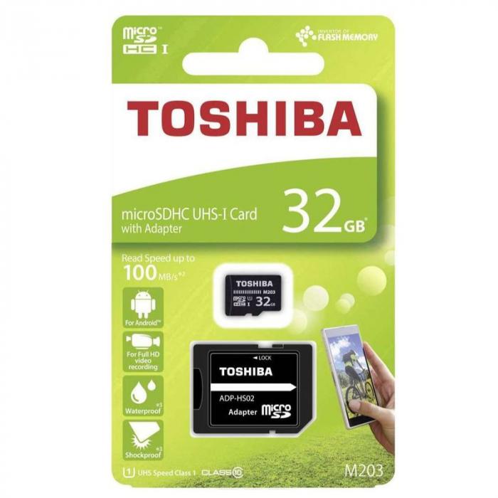 Card de memorie  Toshiba Micro SD-UHS 32 GB Class 10 0