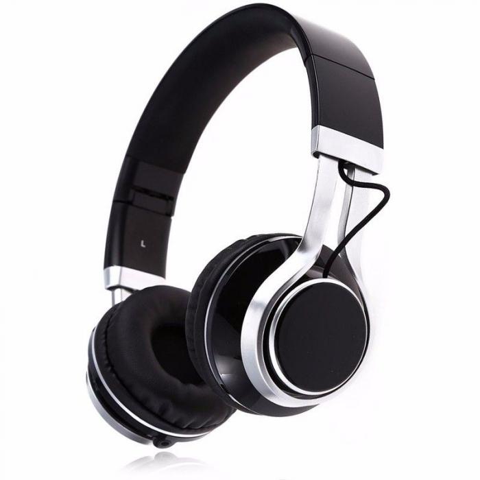 Casti Audio Extra Bass EP-16 cu microfon incorporat - negru 0