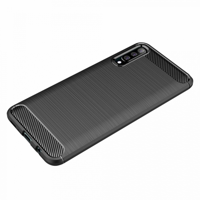 Husa Samsung Galaxy A50 - TPU Carbon Fibre Brushed - albastru [3]