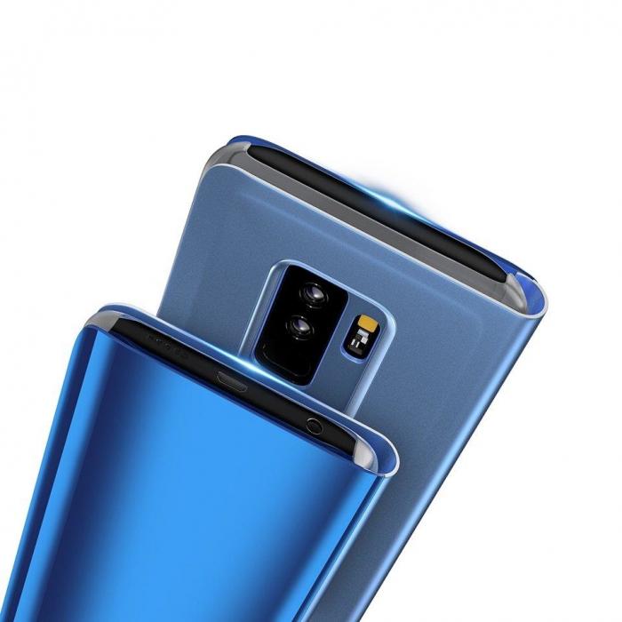 Husa Huawei P30 Lite – Flip Clear View – Negru [4]