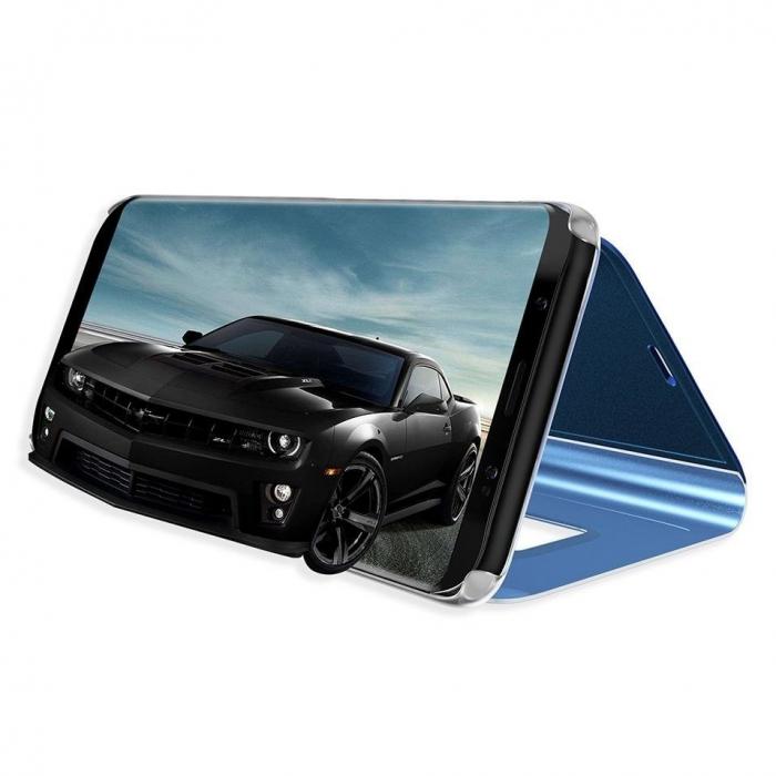 Husa Huawei P30 Lite – Flip Clear View – Albastru [2]