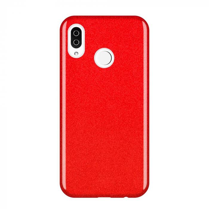 Husa Samsung A50 Shiny TPU Sclipici – rosu 0
