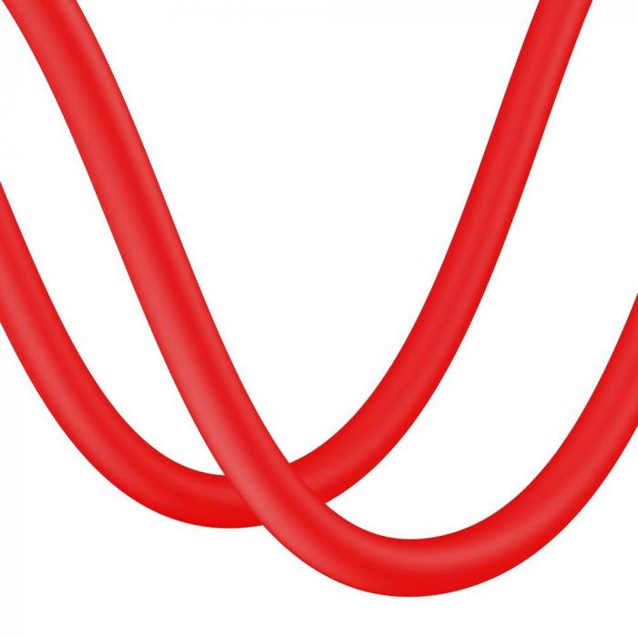 Cablu de date Lightning Baseus-rosu 2.4A [3]