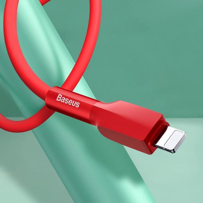 Cablu de date Lightning Baseus-rosu 2.4A [5]