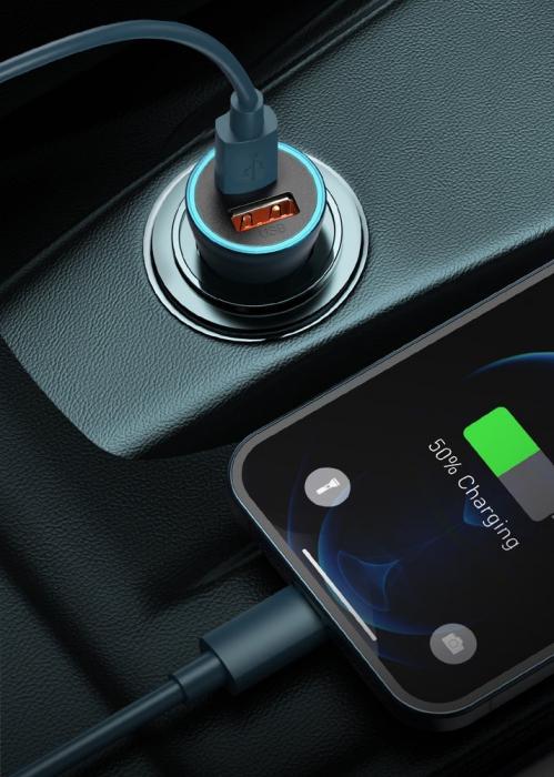 Incarcator auto Baseus Golden Contactor Pro-albastru [5]