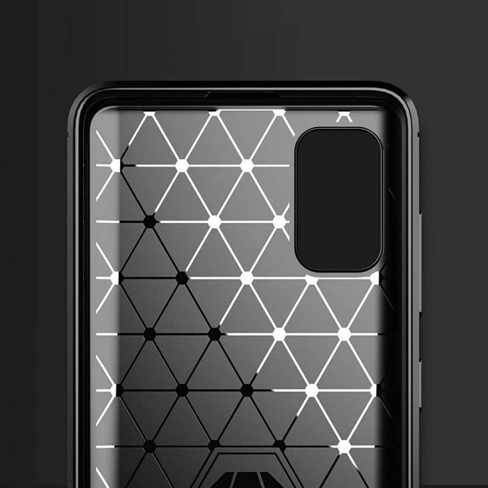 Husa Samsung Galaxy A41 - Tpu Carbon Fibre Brushed - negru [2]