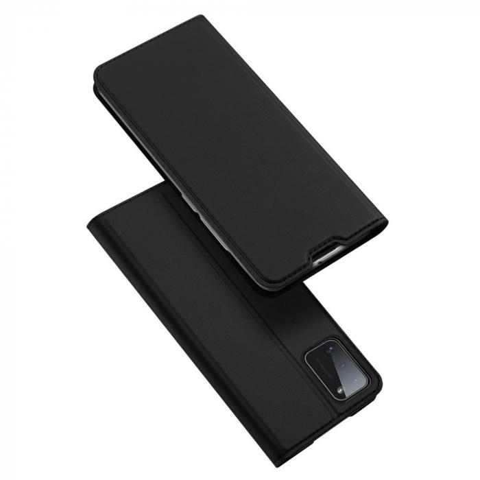 Husa flip Samsung Galaxy A41 - Dux Ducis din piele eco - albastru [0]