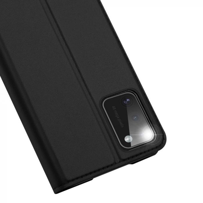 Husa flip Samsung Galaxy A41 - Dux Ducis din piele eco - albastru [2]
