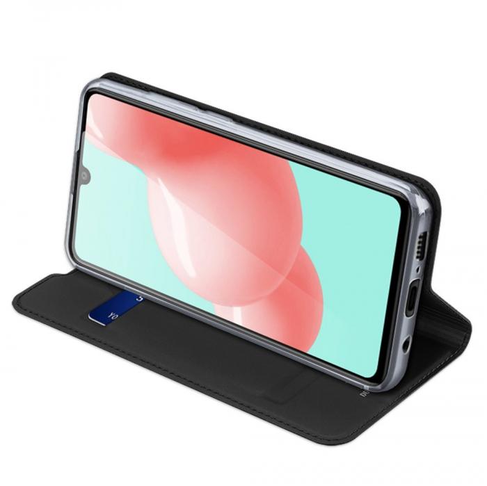 Husa flip Samsung Galaxy A41 - Dux Ducis din piele eco - albastru [4]