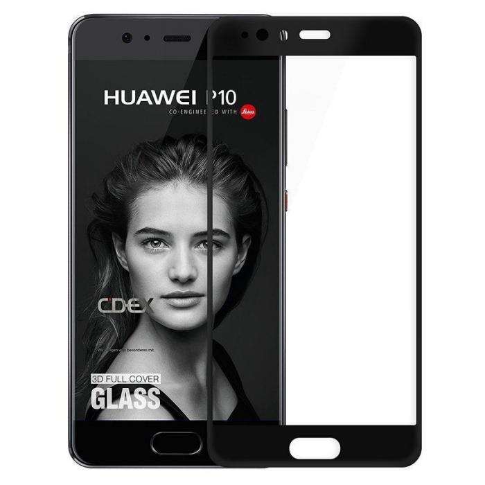 Folie Sticla Securizata Full Screen Huawei P10  - negru 0
