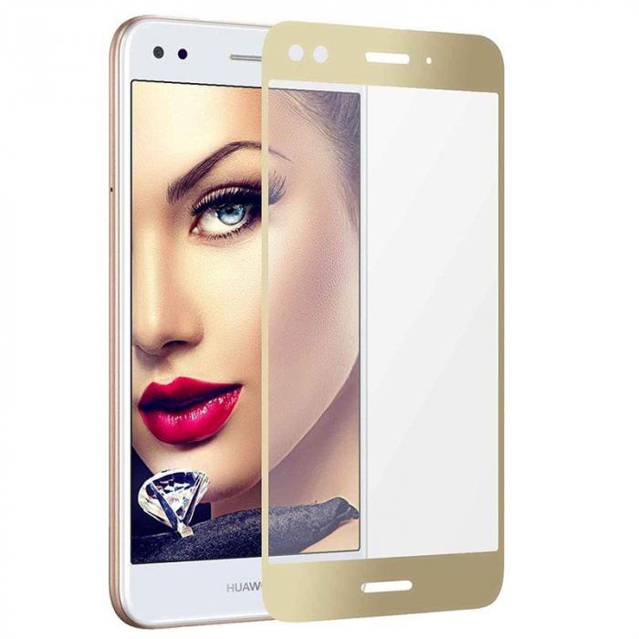 Folie Sticla Securizata Full Screen Huawei P9 Lite Mini 2017 - gold 0
