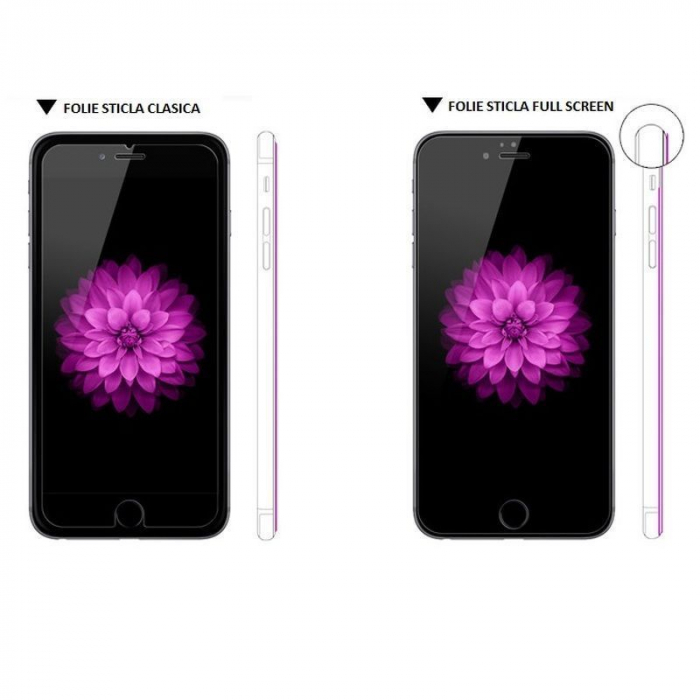 Sticla Securizata Full screen Iphone 6 6S - negru 1