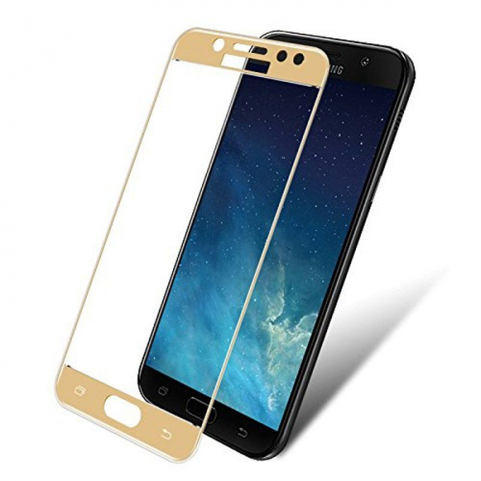 Sticla Securizata Full Screen Samsung Galaxy J7 2017 - gold 0
