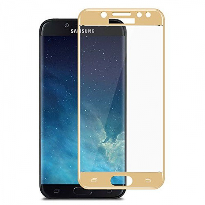 Sticla Securizata Full Screen Samsung Galaxy J7 2017 - gold 2
