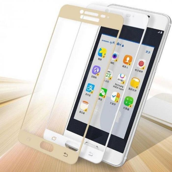 Folie Sticla Securizata Full Screen Soft Edge 3D Samsung Galaxy A3 2017 - gold 2