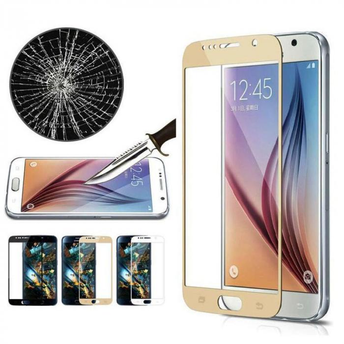 Folie Sticla Securizata Full Screen Soft Edge 3D Samsung Galaxy A3 2017 - gold 1