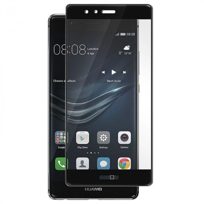 Folie Sticla Securizata Full Screen Soft Edge Huawei P9 - negru 0