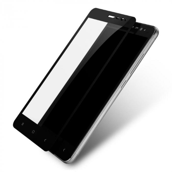 Folie Sticla Securizata Leuno Full Screen Xiaomi Redmi Note 3 Pro Special Edition - negru 0
