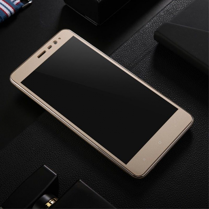 Folie Sticla Securizata Leuno Full Screen Xiaomi Redmi Note 3 Pro Special Edition - gold 4