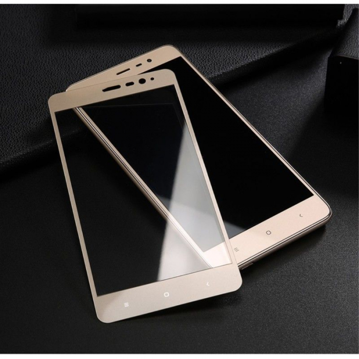 Folie Sticla Securizata Leuno Full Screen Xiaomi Redmi Note 3 Pro Special Edition - gold 1