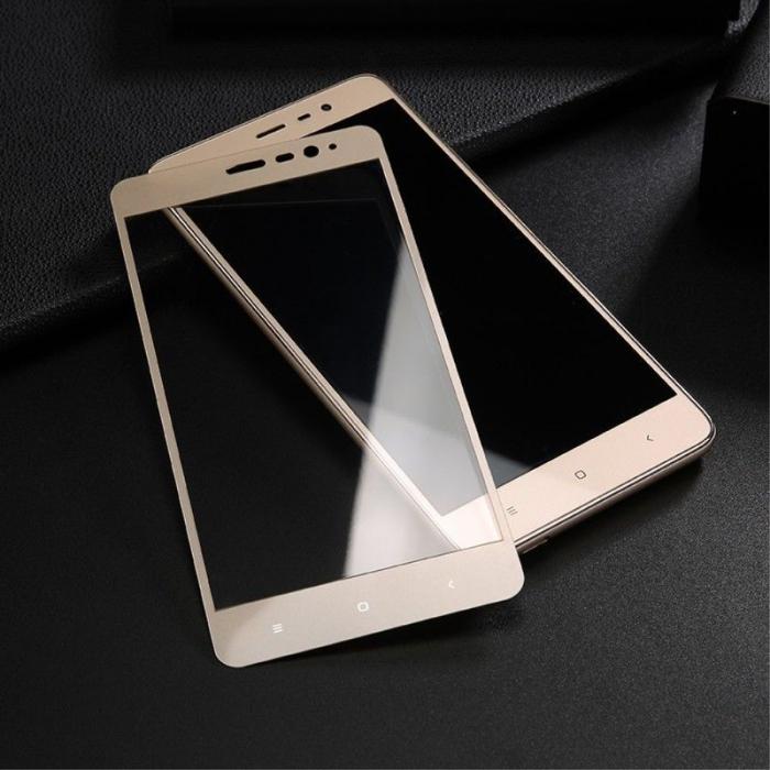 Folie Sticla Securizata Leuno Full Screen Xiaomi Redmi Note 3 Pro Special Edition - gold 5