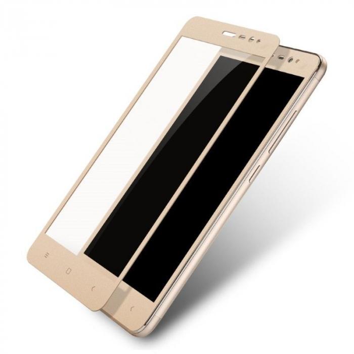 Folie Sticla Securizata Leuno Full Screen Xiaomi Redmi Note 3 Pro Special Edition - gold 0