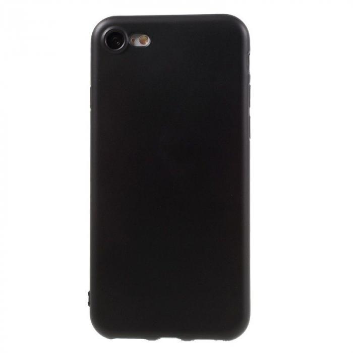 Husa iPhone 7 / iPhone8  Matte Soft TPU - negru 0