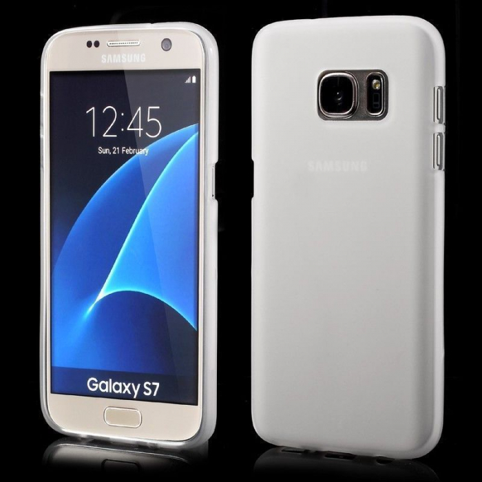 Husa Color Soft TPU Cover Samsung Galaxy S7 - alb 0