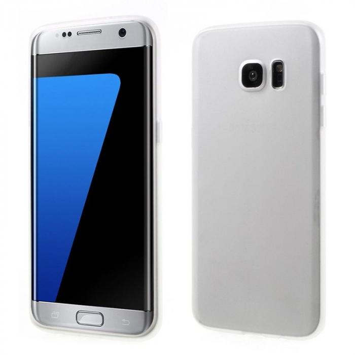 Husa Color Soft TPU Cover Samsung Galaxy S7 Edge - alb 0