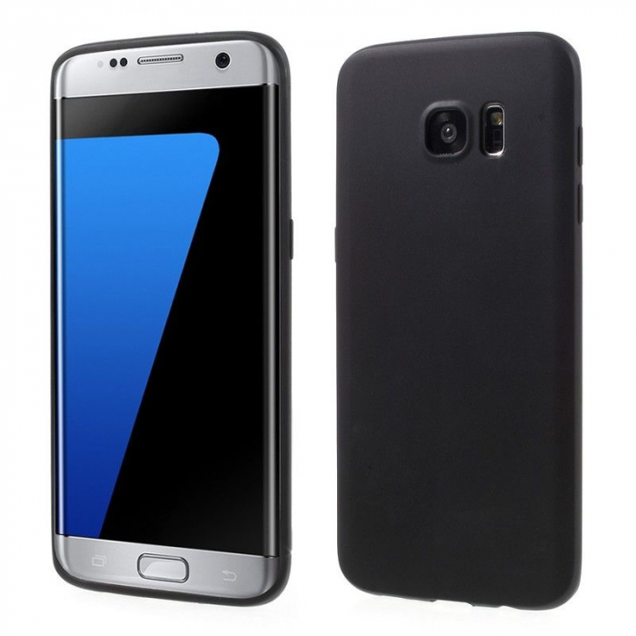 Husa Color Soft TPU Cover Samsung Galaxy S7 Edge - negru 0