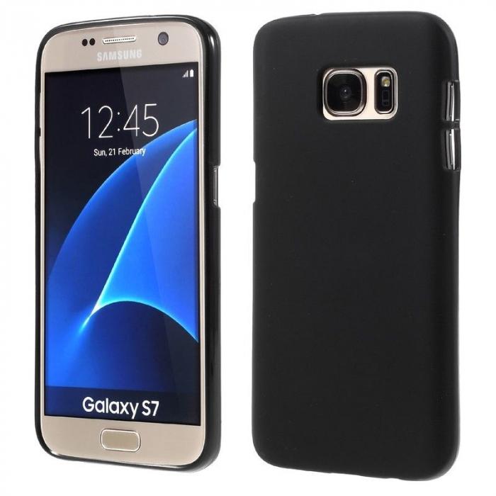 Husa Color Soft TPU Cover Samsung Galaxy S7 - negru 0
