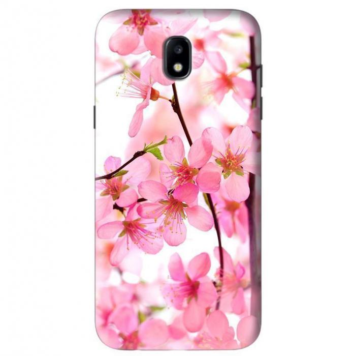 Husa Samsung Galaxy J5 2017 Custom Hard Case Pink Flowers  0