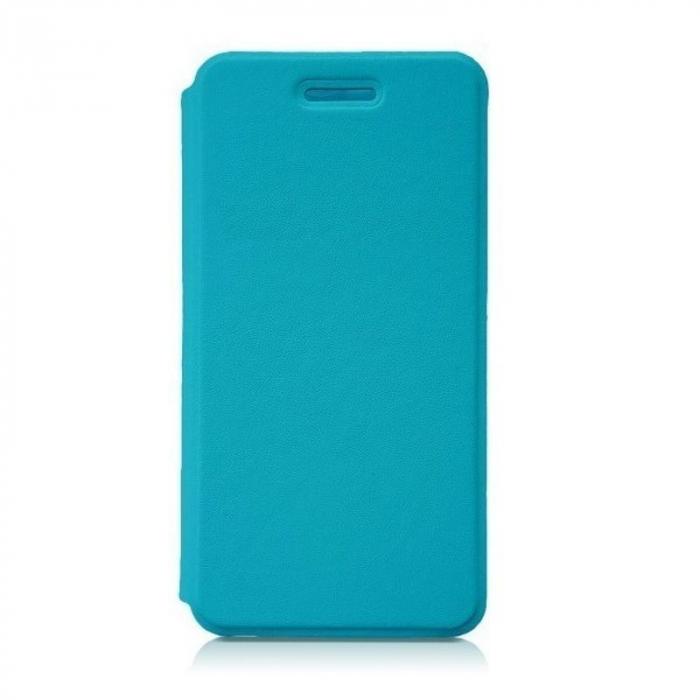 Husa flip din piele eco Allview P6 Energy Lite - albastru 0