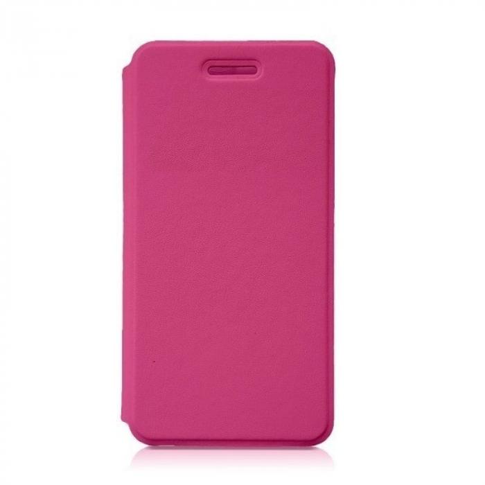 Husa flip din piele eco Allview P6 Energy Lite - roz [0]
