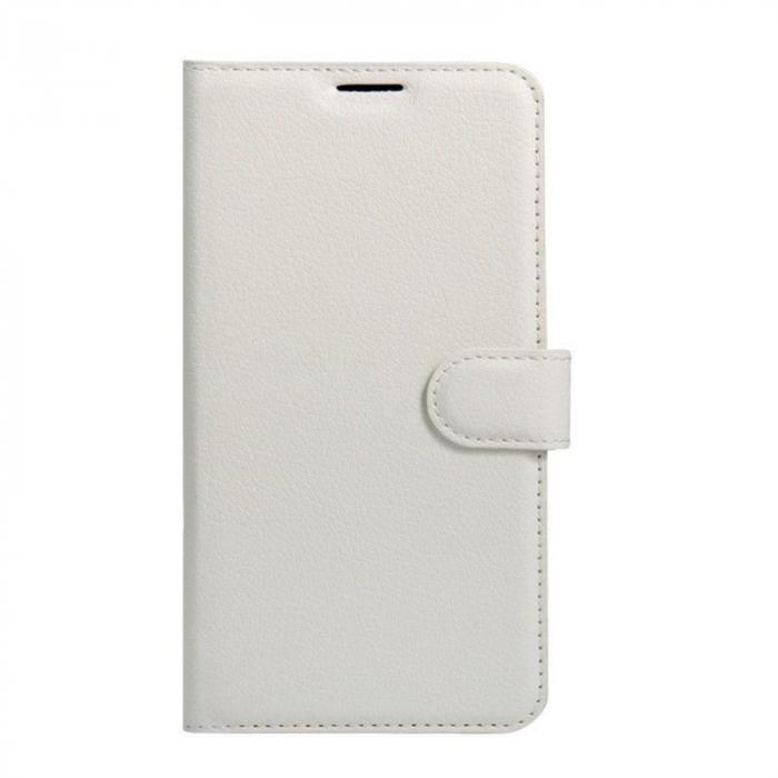 Husa flip din piele eco Crazy Horse Vodafone Smart N8 - alb 0