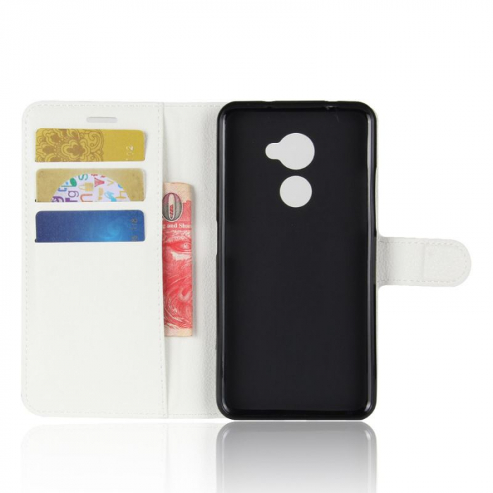 Husa flip din piele eco Crazy Horse Vodafone Smart N8 - alb 5