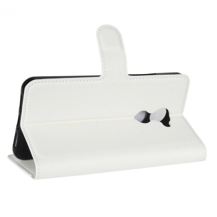 Husa flip din piele eco Crazy Horse Vodafone Smart N8 - alb 3