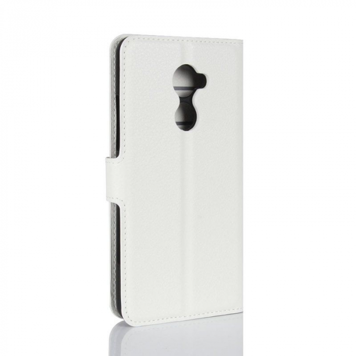Husa flip din piele eco Crazy Horse Vodafone Smart N8 - alb 2