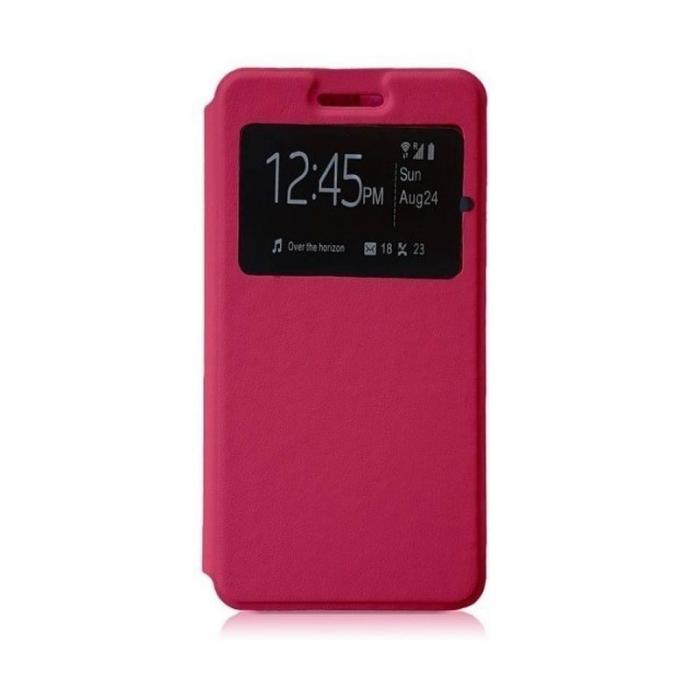 Husa Lenovo Vibe C - A2020 flip din piele eco - roz 0