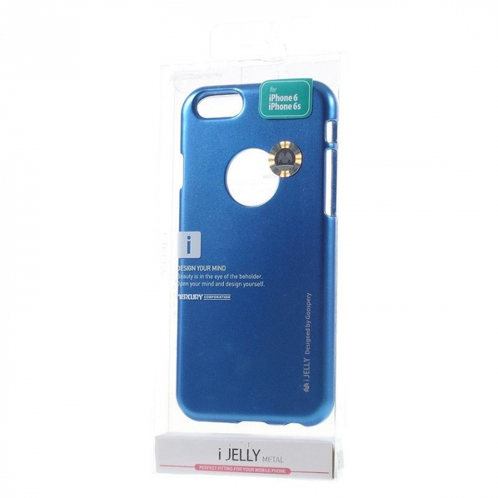 Husa iPhone 6 / iPhone 6S Goospery i JELLY - albastru 4